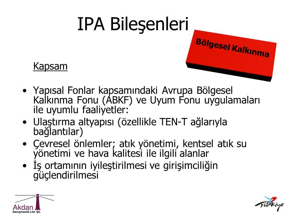 IPA Bileşenleri Kapsam
