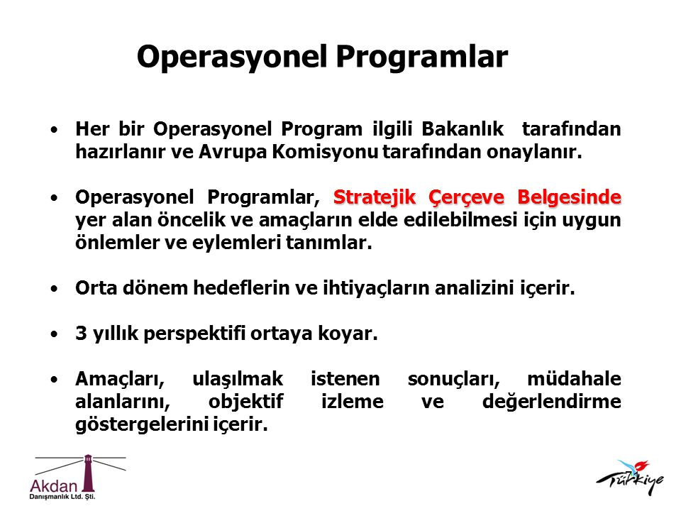 Operasyonel Programlar