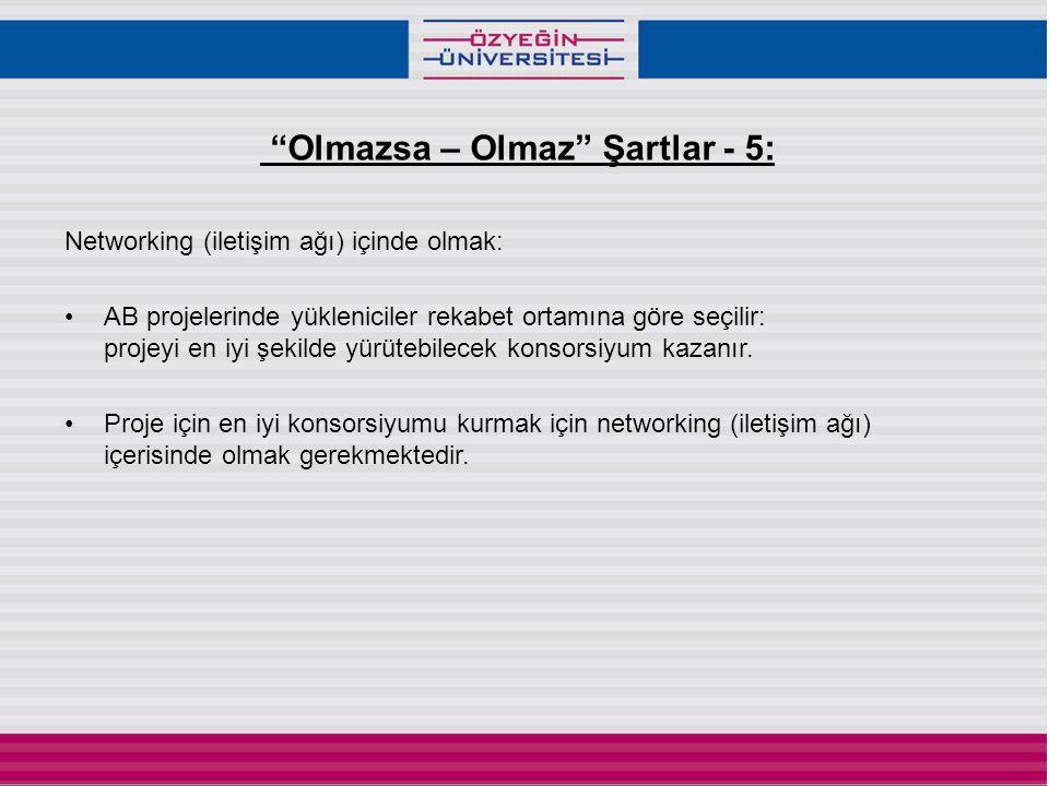 Olmazsa – Olmaz Şartlar - 5: