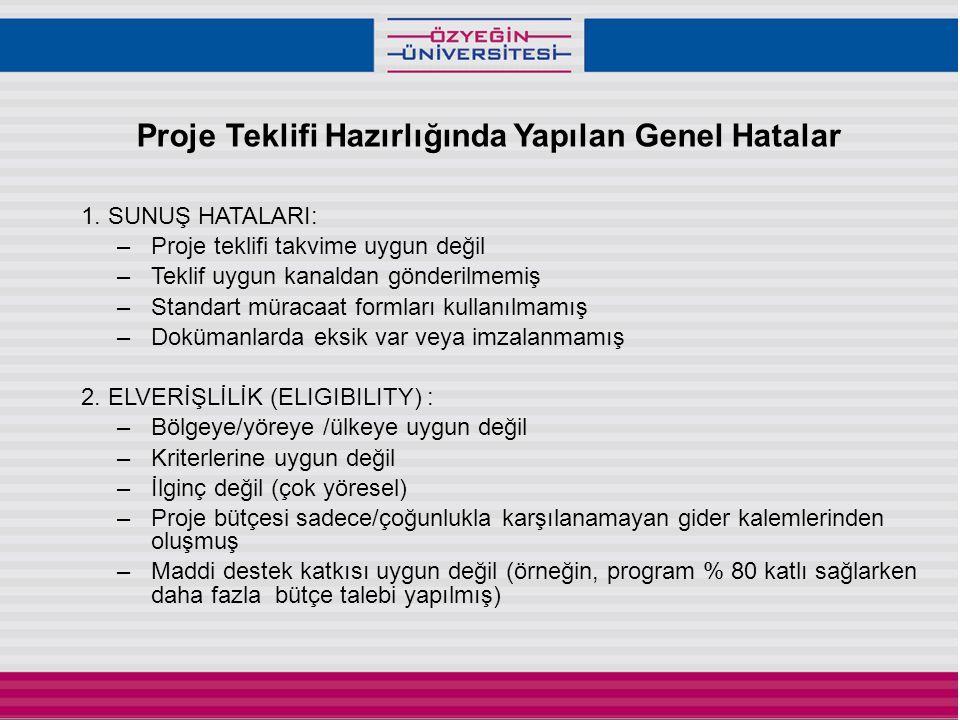 Proje Teklifi Hazırlığında Yapılan Genel Hatalar