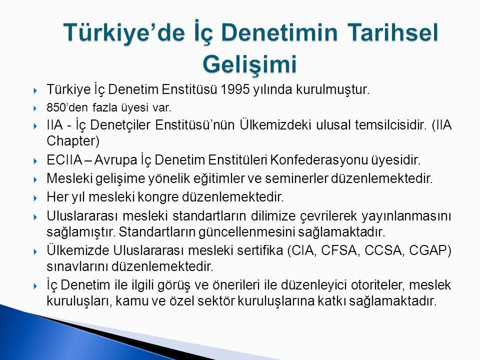 Türkiye'de İç Denetimin Tarihsel Gelişimi