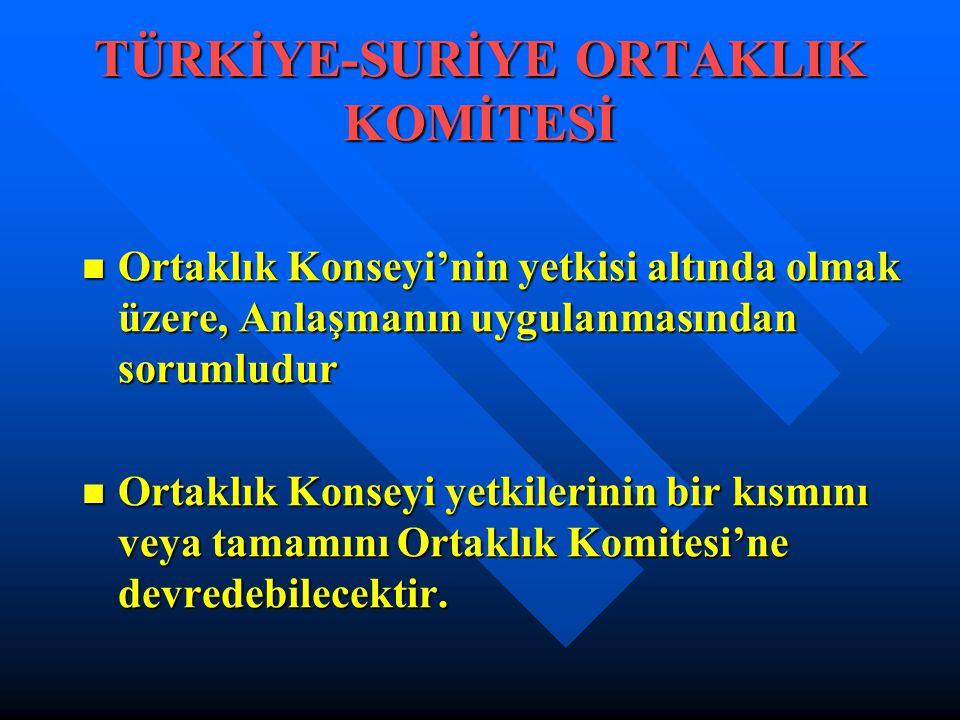 TÜRKİYE-SURİYE ORTAKLIK KOMİTESİ