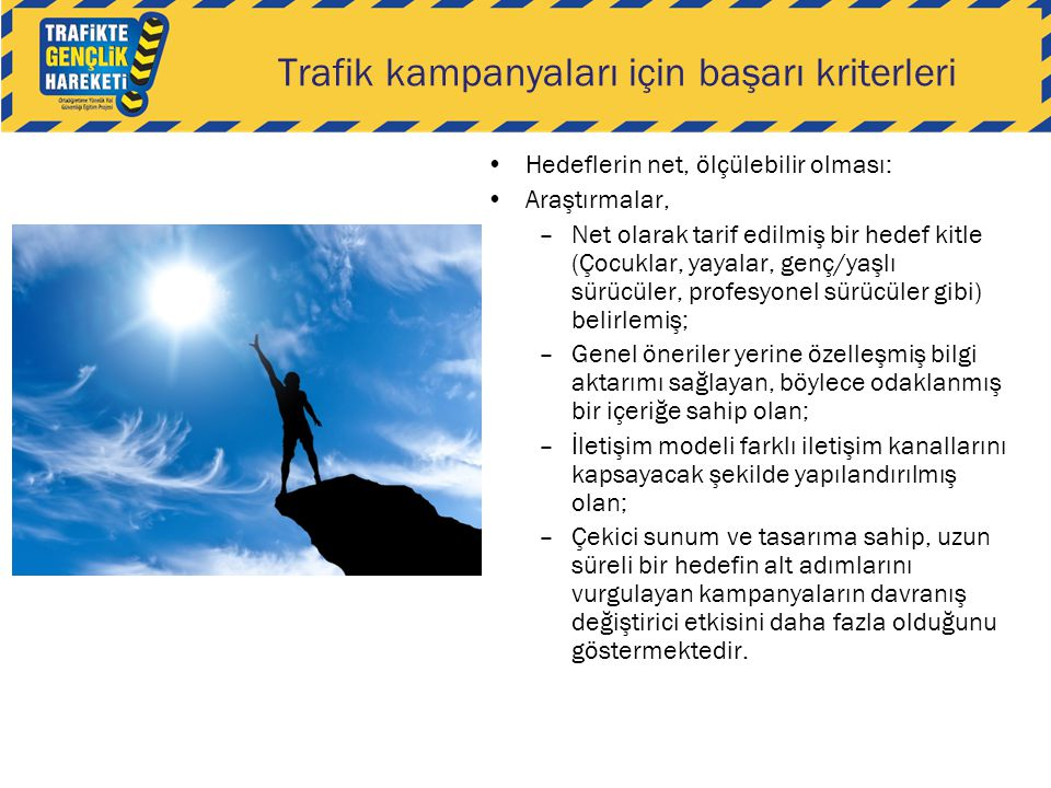 Trafik kampanyaları için başarı kriterleri