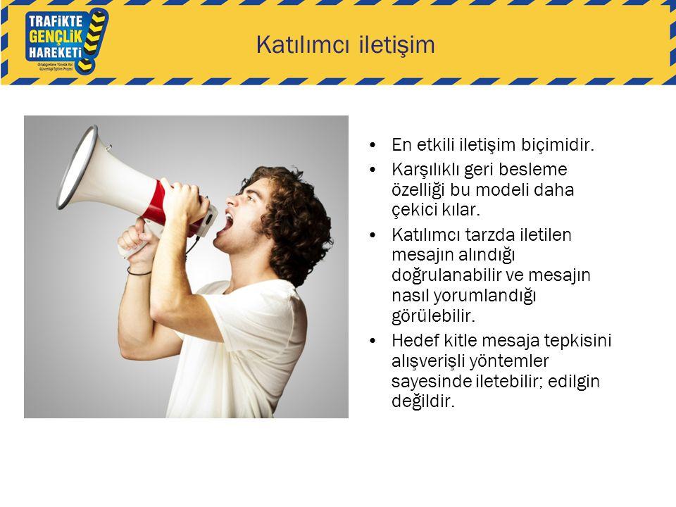 Katılımcı iletişim En etkili iletişim biçimidir.