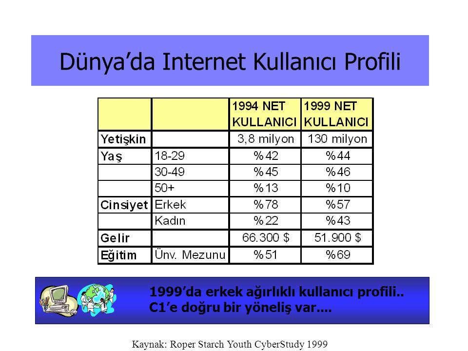 Dünya'da Internet Kullanıcı Profili