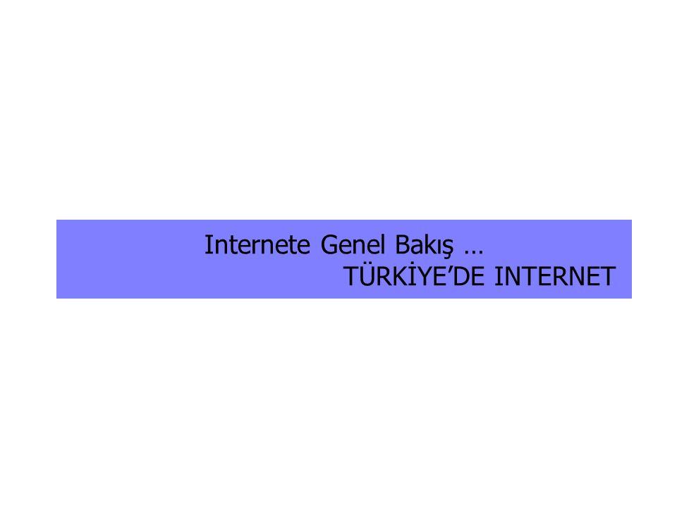 Internete Genel Bakış … TÜRKİYE'DE INTERNET