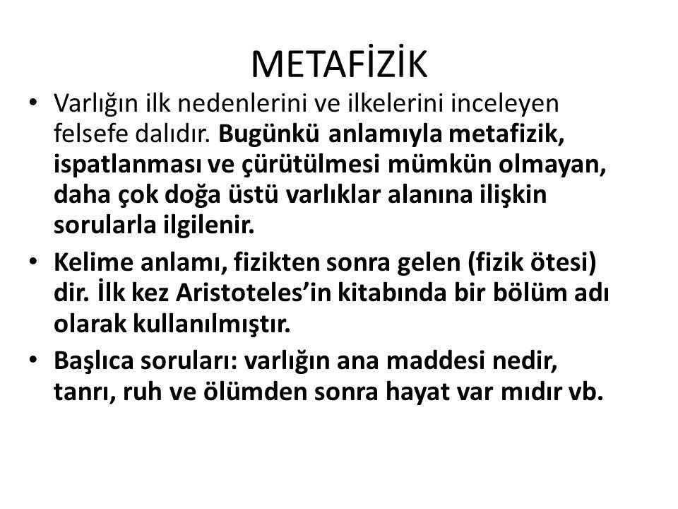 METAFİZİK