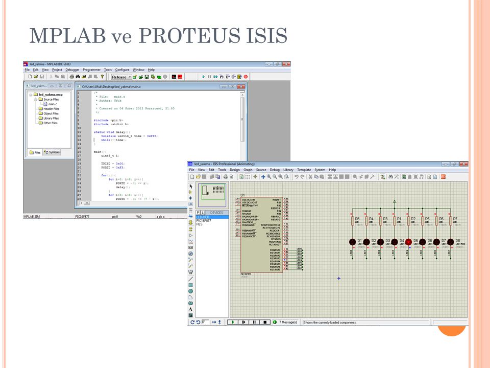 MPLAB ve PROTEUS ISIS