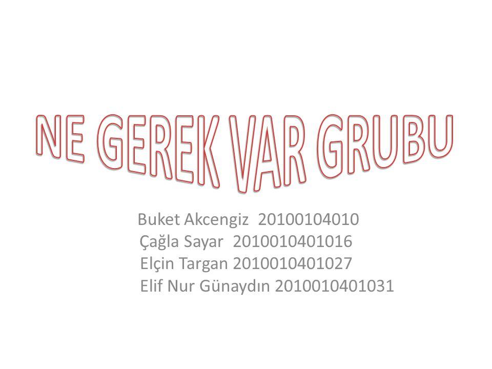 NE GEREK VAR GRUBU Buket Akcengiz 20100104010