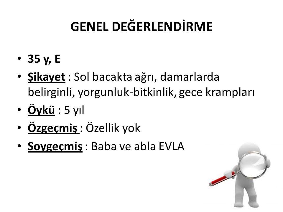 GENEL DEĞERLENDİRME 35 y, E
