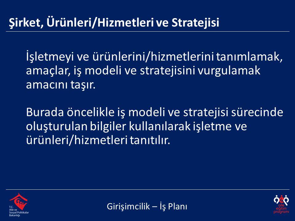 Şirket, Ürünleri/Hizmetleri ve Stratejisi