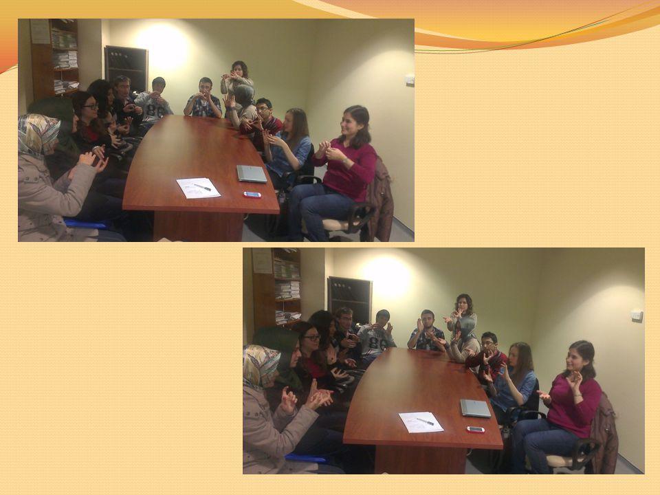 Oturumlar sırasında grubumuzun çalışmaları