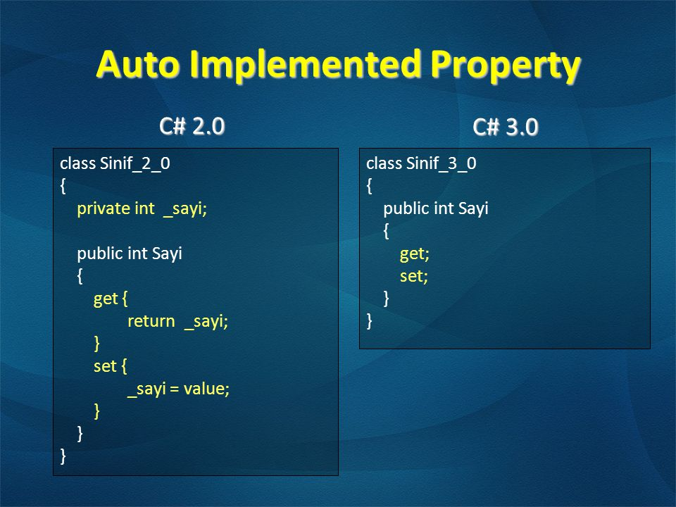 Auto Implemented Property