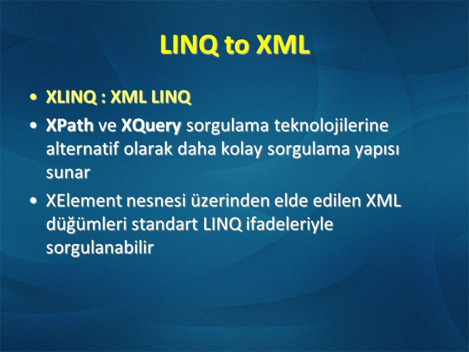 LINQ to XML XLINQ : XML LINQ