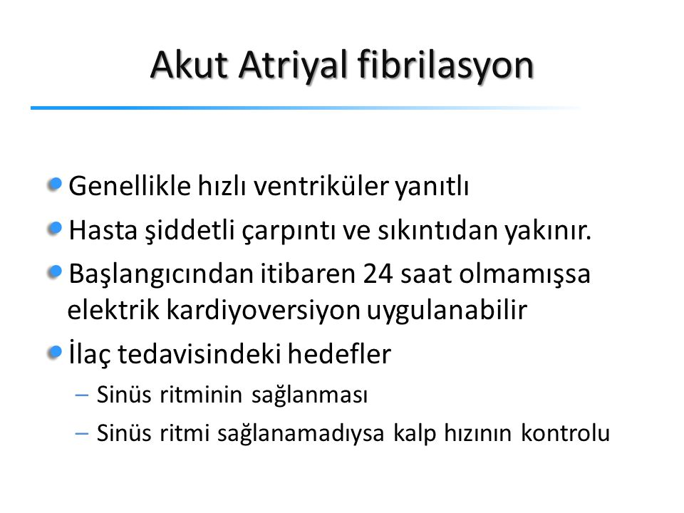 Akut Atriyal fibrilasyon