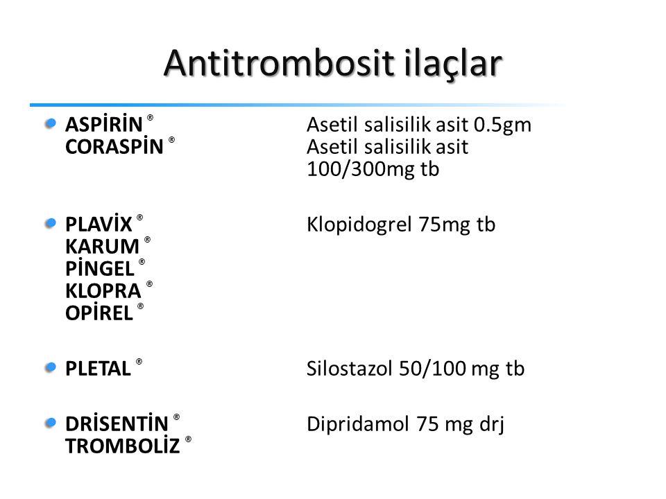 Antitrombosit ilaçlar