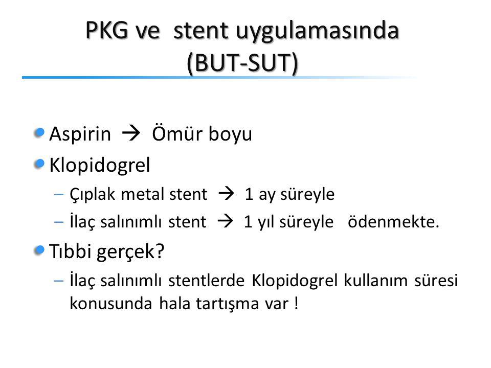 PKG ve stent uygulamasında (BUT-SUT)