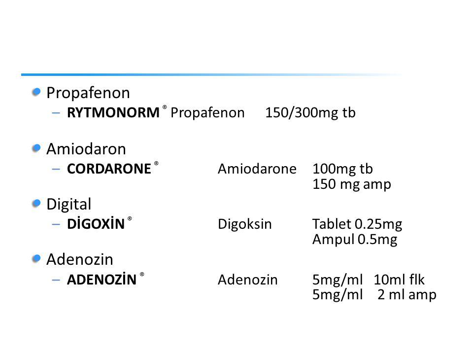 Propafenon Amiodaron Digital Adenozin