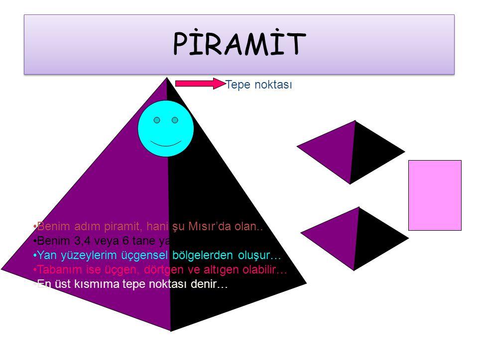 PİRAMİT Tepe noktası Benim adım piramit, hani şu Mısır'da olan..