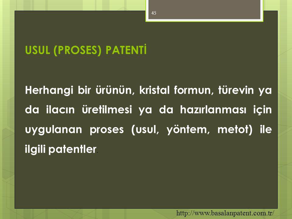 USUL (PROSES) PATENTİ