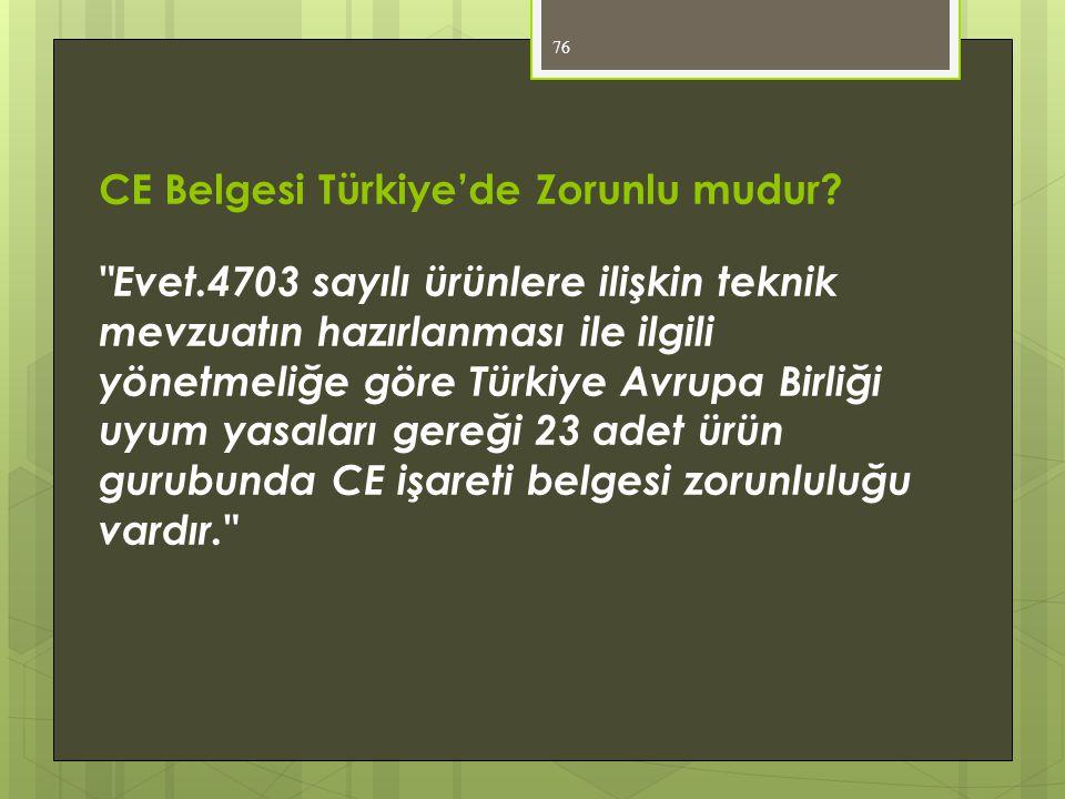 CE Belgesi Türkiye'de Zorunlu mudur