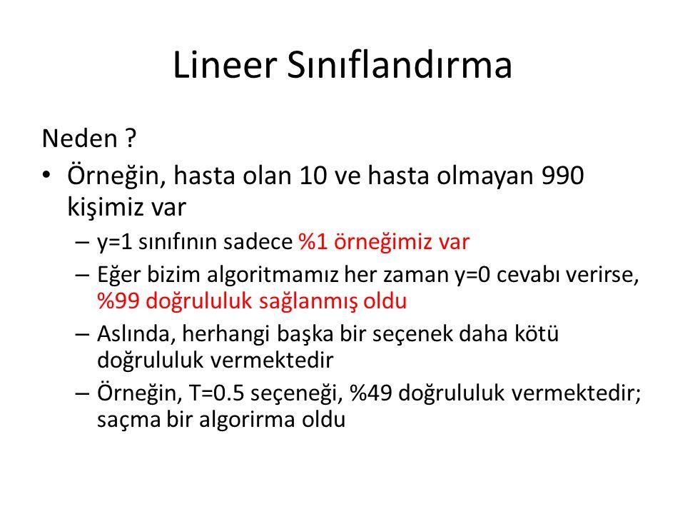 Lineer Sınıflandırma Neden