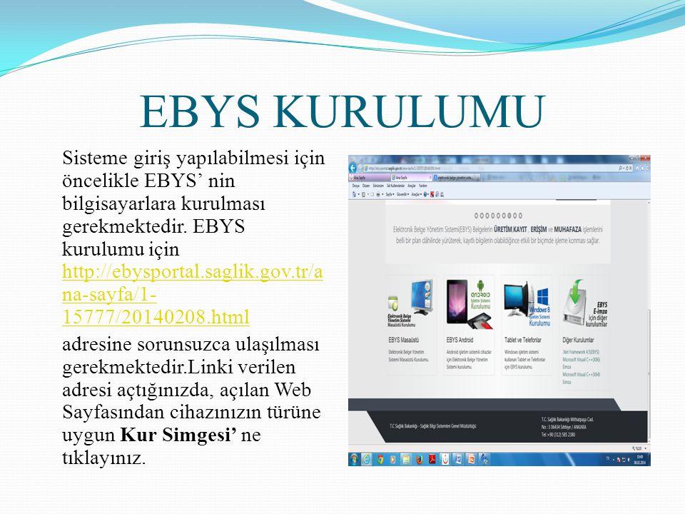 EBYS KURULUMU