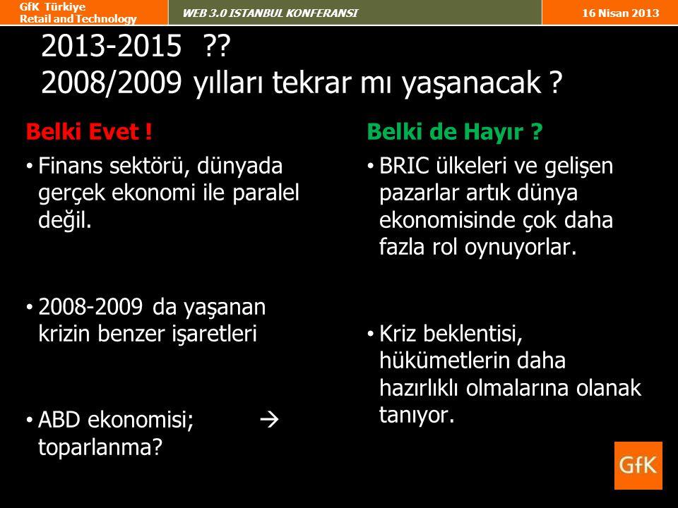 2013-2015 2008/2009 yılları tekrar mı yaşanacak