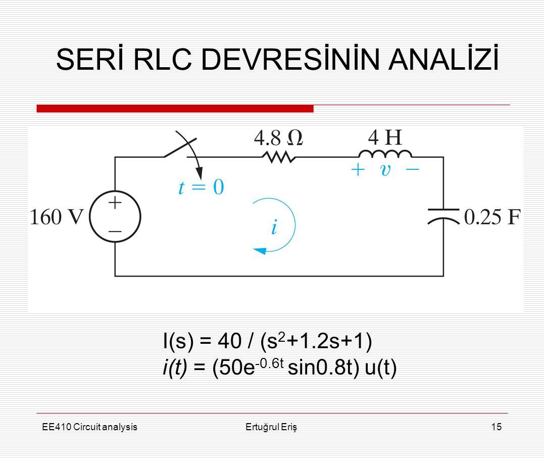 SERİ RLC DEVRESİNİN ANALİZİ