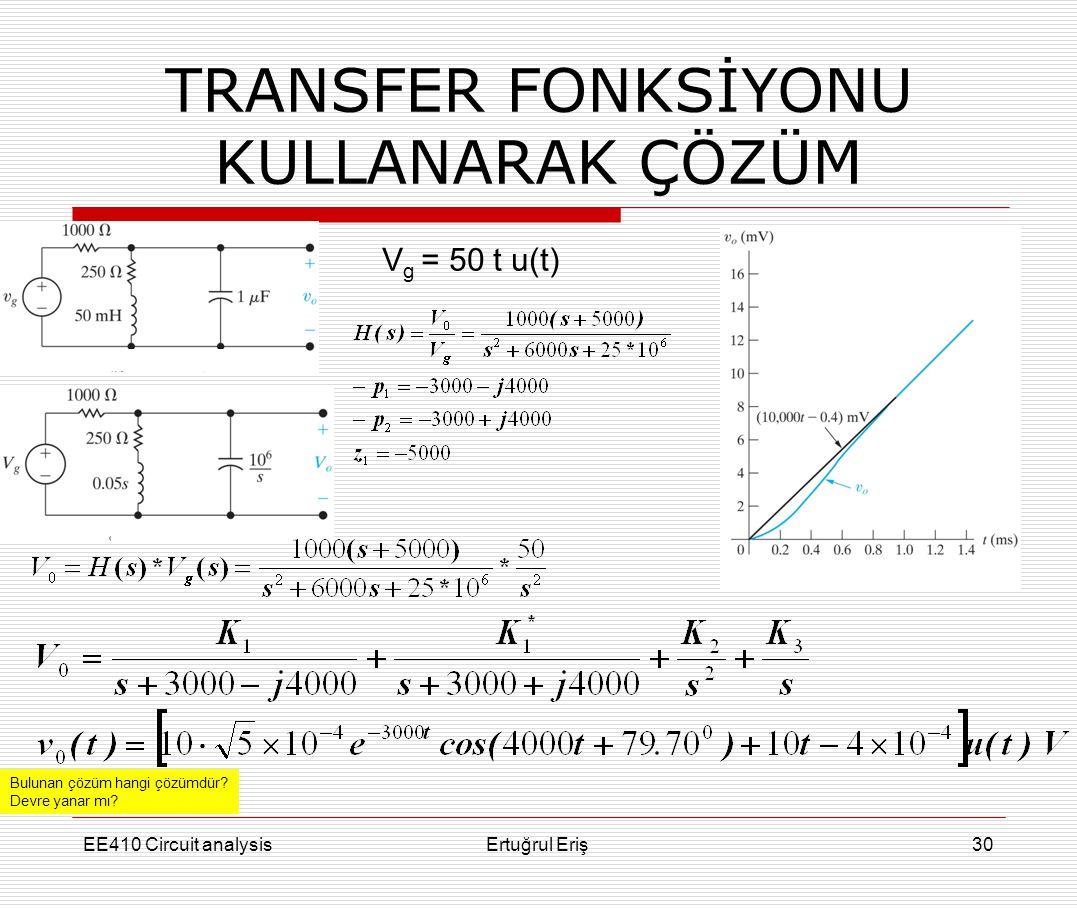 TRANSFER FONKSİYONU KULLANARAK ÇÖZÜM