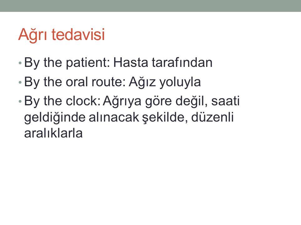 Ağrı tedavisi By the patient: Hasta tarafından