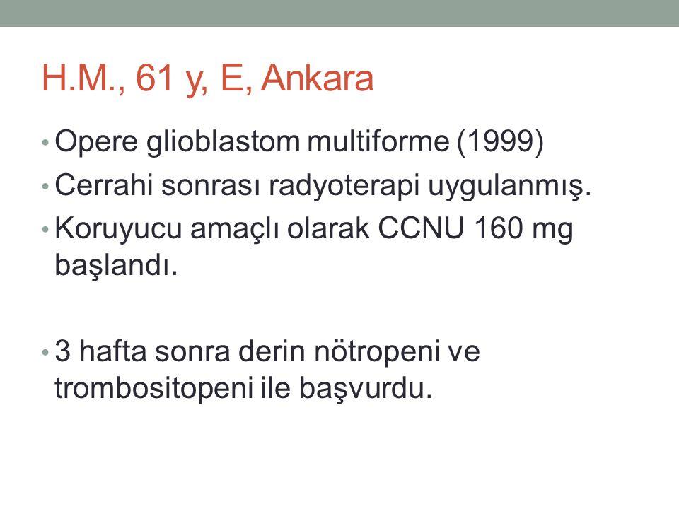 H.M., 61 y, E, Ankara Opere glioblastom multiforme (1999)