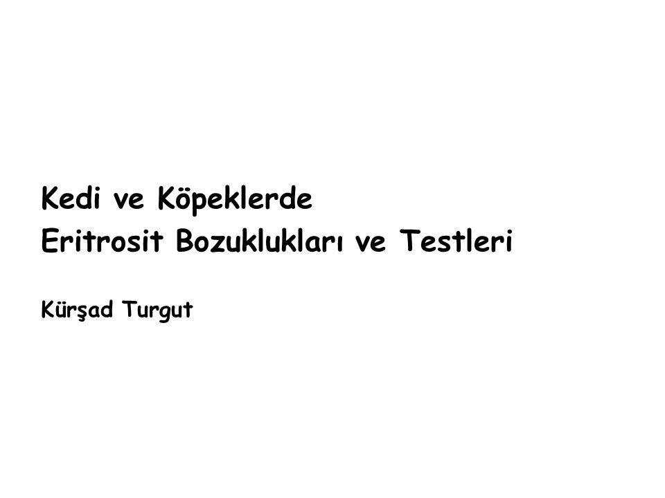 Eritrosit Bozuklukları ve Testleri