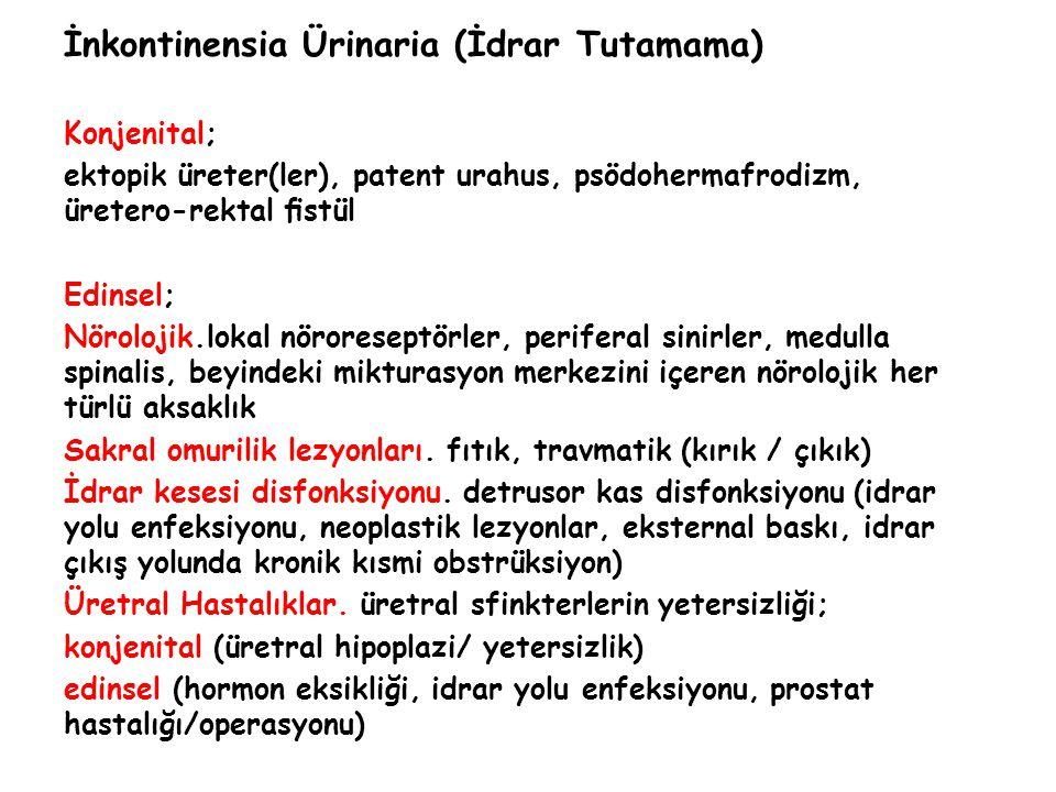 İnkontinensia Ürinaria (İdrar Tutamama)