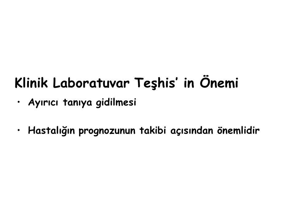 Klinik Laboratuvar Teşhis' in Önemi