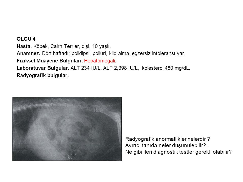 Radyografik anormallikler nelerdir