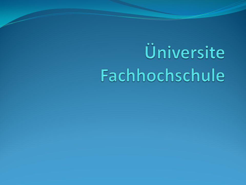 Üniversite Fachhochschule