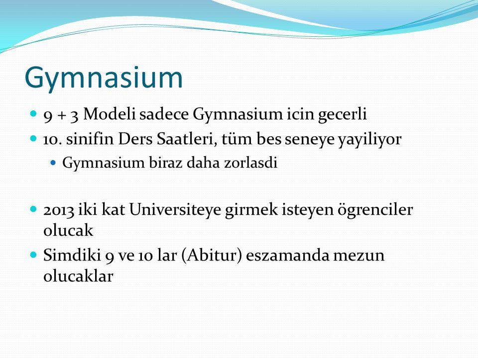 Gymnasium 9 + 3 Modeli sadece Gymnasium icin gecerli