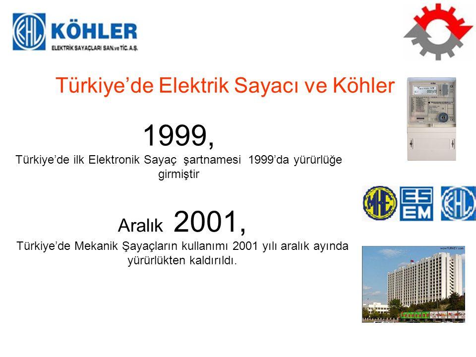 Türkiye'de ilk Elektronik Sayaç şartnamesi 1999'da yürürlüğe girmiştir