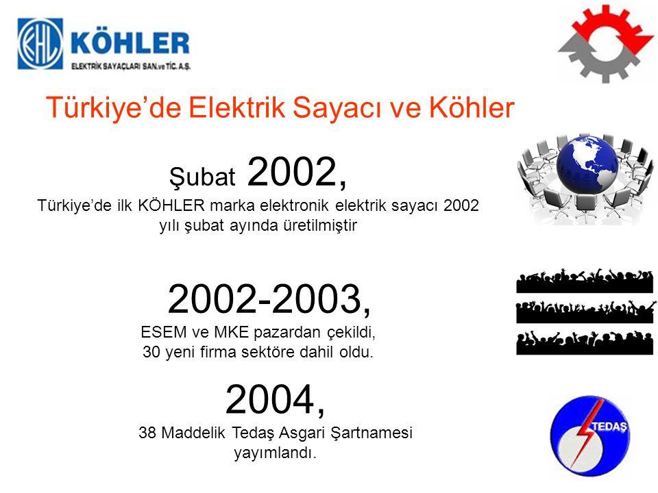 2002-2003, 2004, Türkiye'de Elektrik Sayacı ve Köhler Şubat 2002,