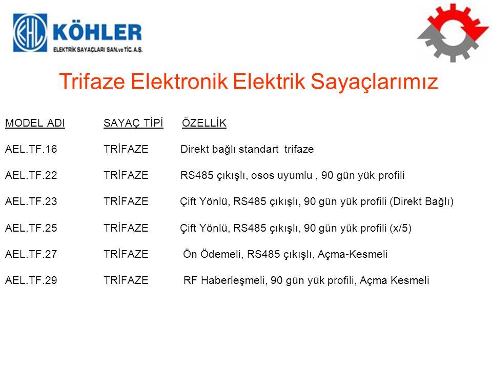Trifaze Elektronik Elektrik Sayaçlarımız