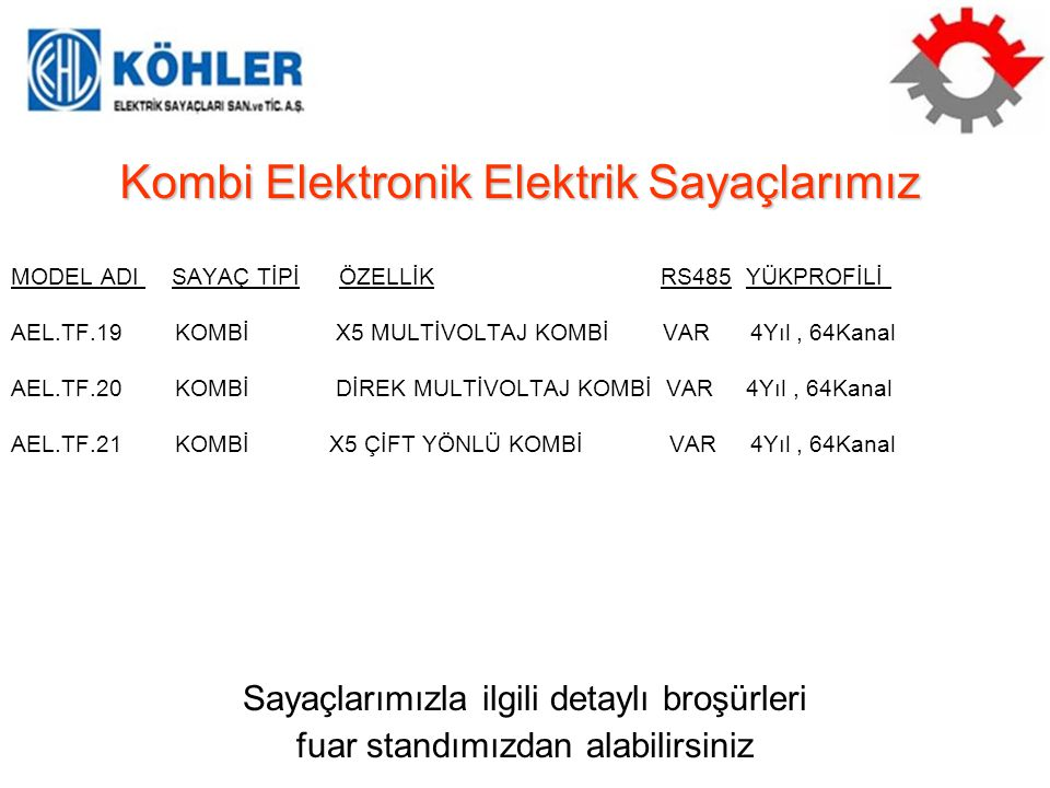Kombi Elektronik Elektrik Sayaçlarımız