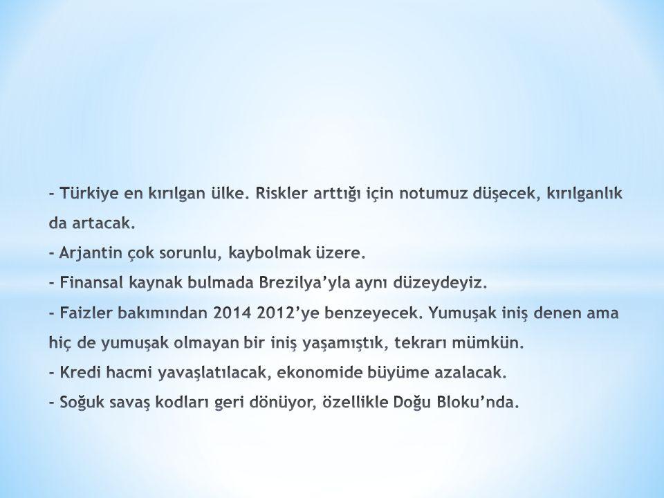 - Türkiye en kırılgan ülke
