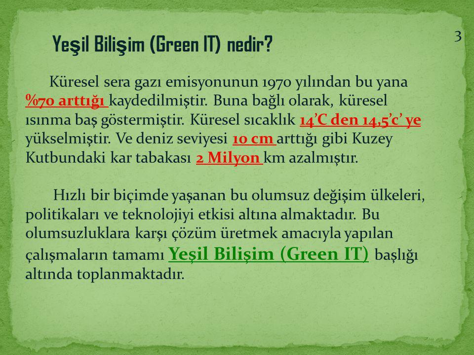 Yeşil Bilişim (Green IT) nedir