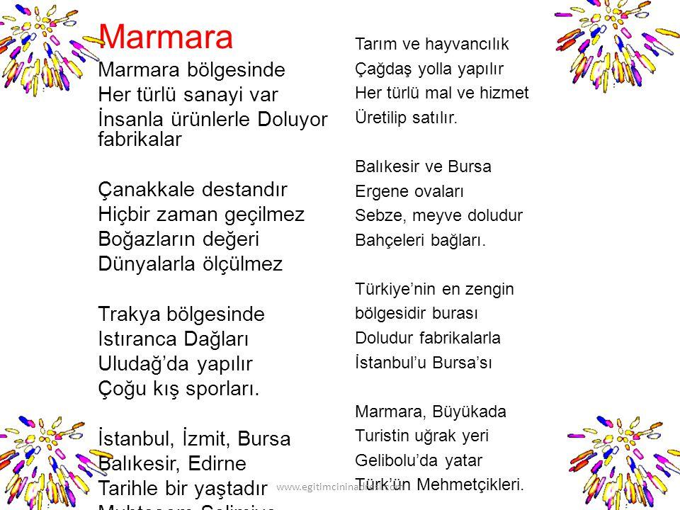 Marmara Marmara bölgesinde Her türlü sanayi var