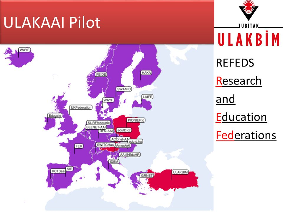 ULAKAAI Pilot REFEDS Research and Education Federations