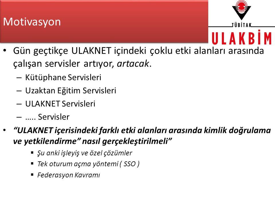 Motivasyon Gün geçtikçe ULAKNET içindeki çoklu etki alanları arasında çalışan servisler artıyor, artacak.