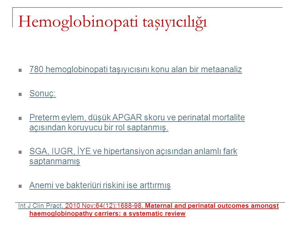 Hemoglobinopati taşıyıcılığı