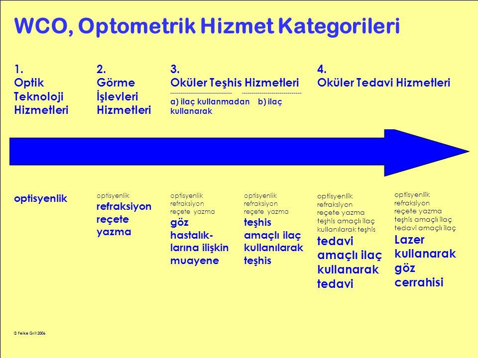 WCO, Optometrik Hizmet Kategorileri