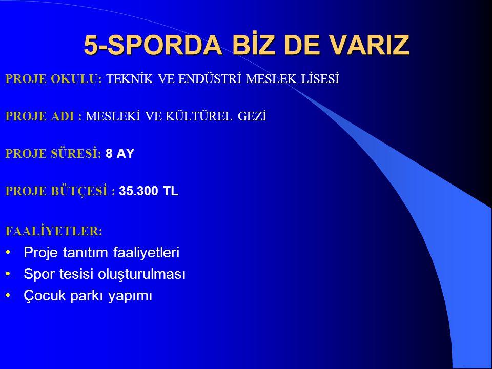 5-SPORDA BİZ DE VARIZ Proje tanıtım faaliyetleri